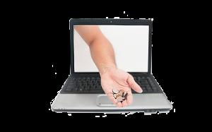 Pénztermelő honlap, laptop érmével